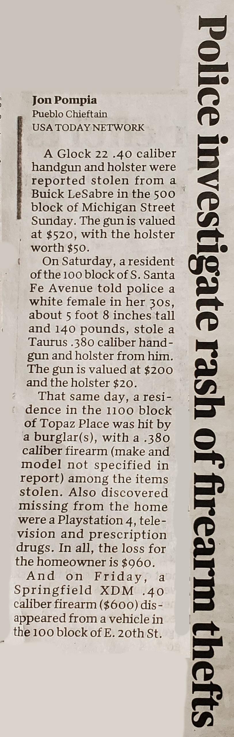 firearms theft