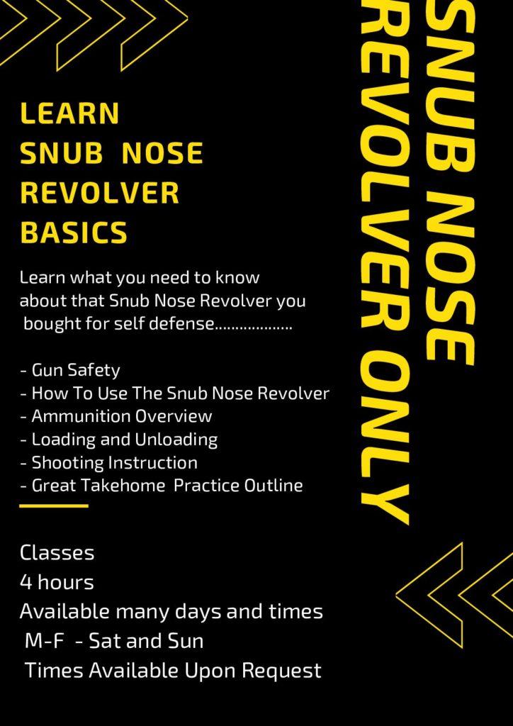 Snub Nose Revolver Only